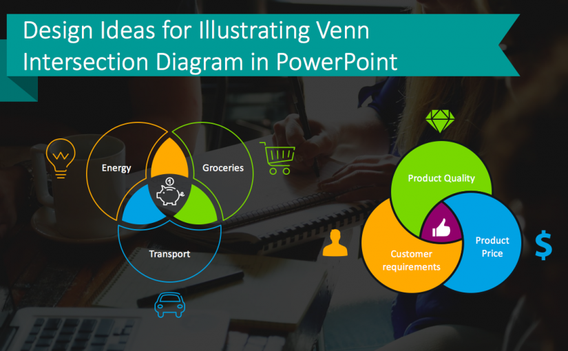 Design Ideas for Illustrating Venn Intersection Diagram in PowerPoint