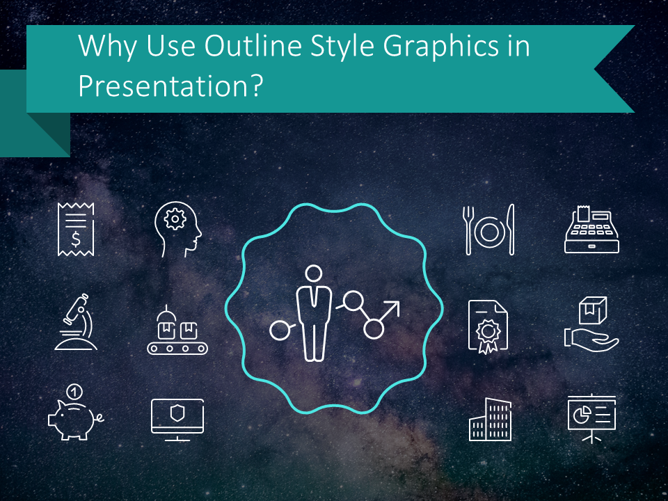 Why Use Outline Style Graphics in a Presentation?