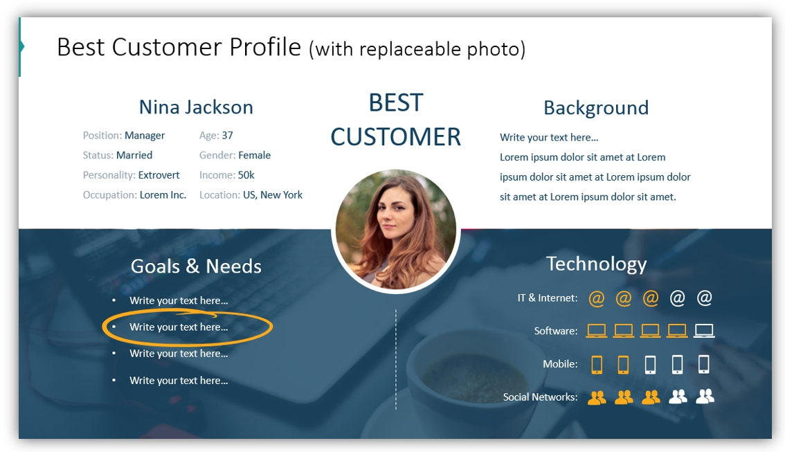 buyer persona best customer ppt