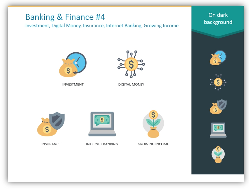 banking finance color icons powerpoint