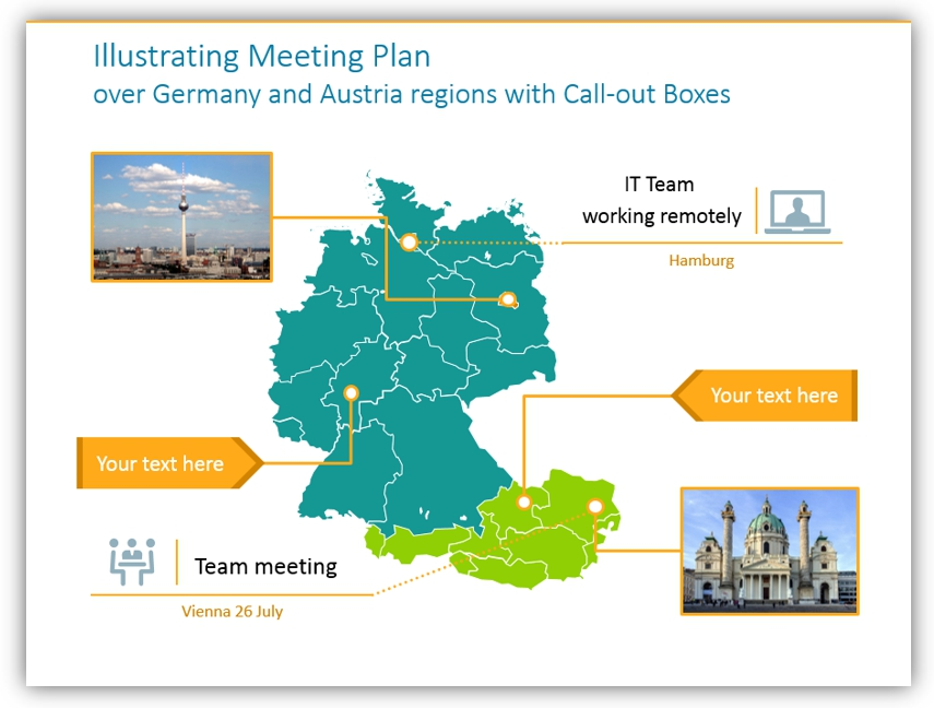map graphics meeting plan graphics powerpoint