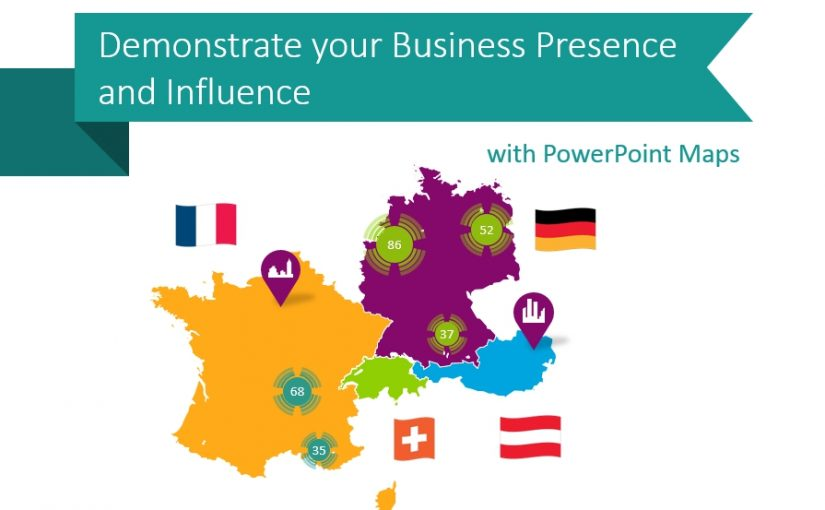 maps graphics business influence ppt