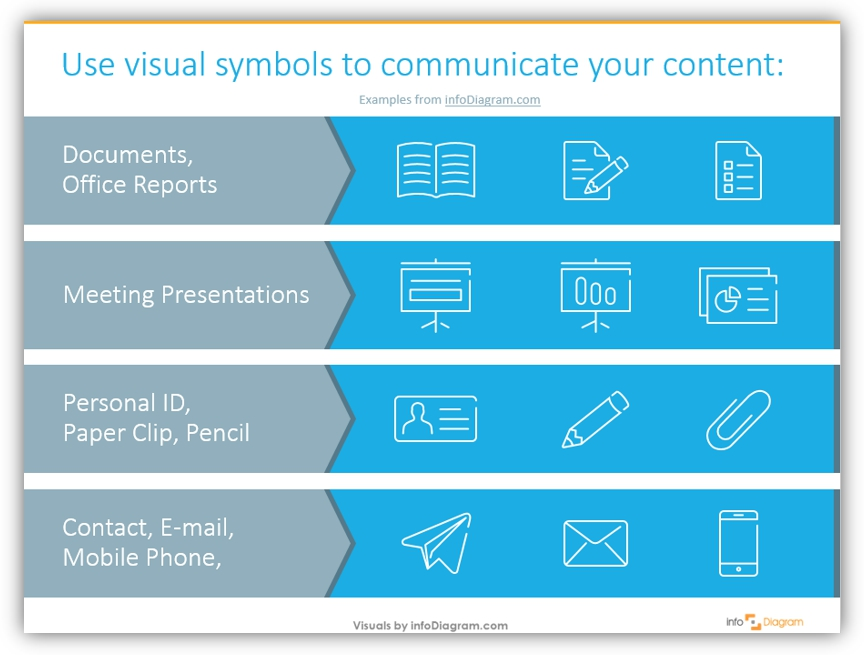 office visuals documents icons powerpoint