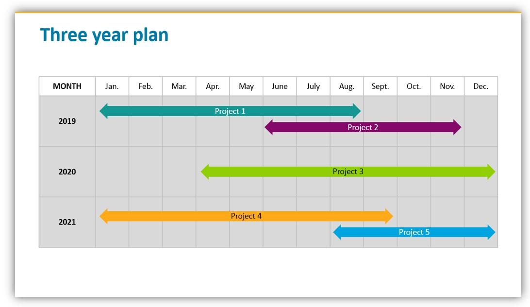 calendar graphics three years planning