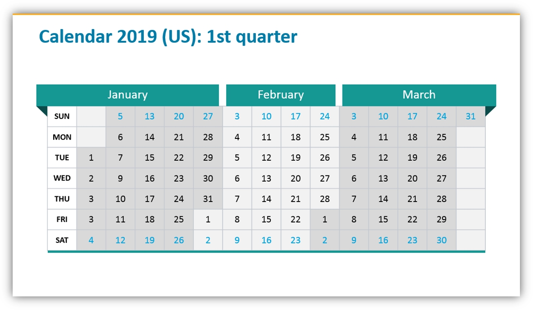 calendar graphics quarterly