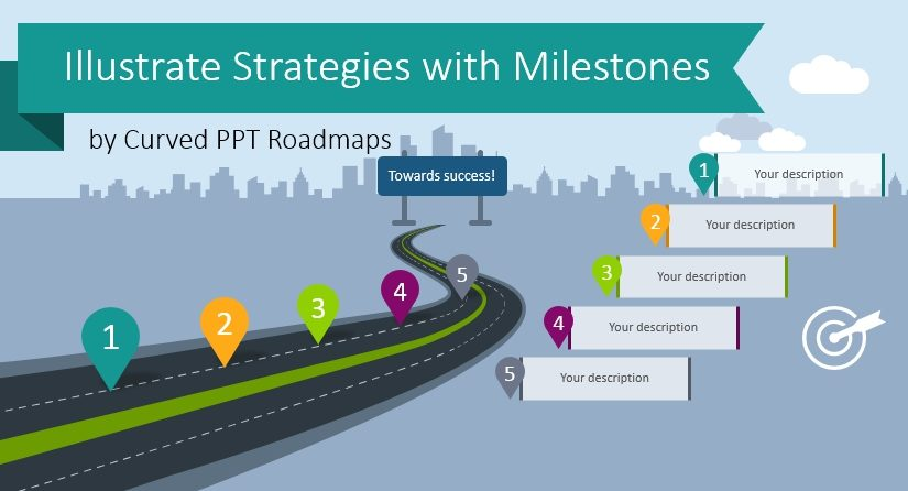 curved roadmap powerpoint