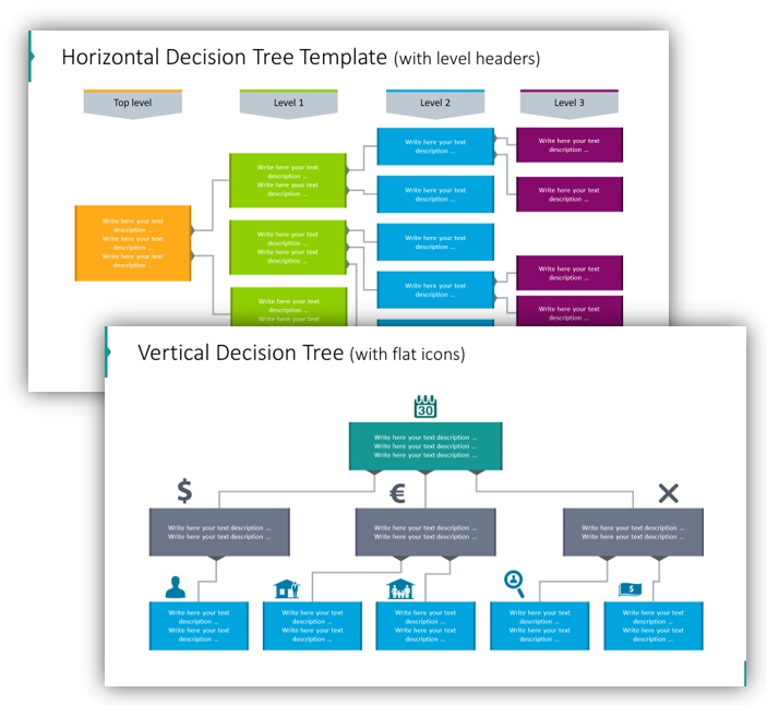 decision tree horizontal vertical ppt