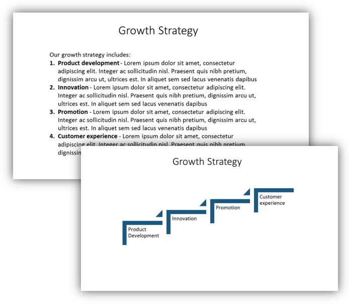 growth diagram smartart