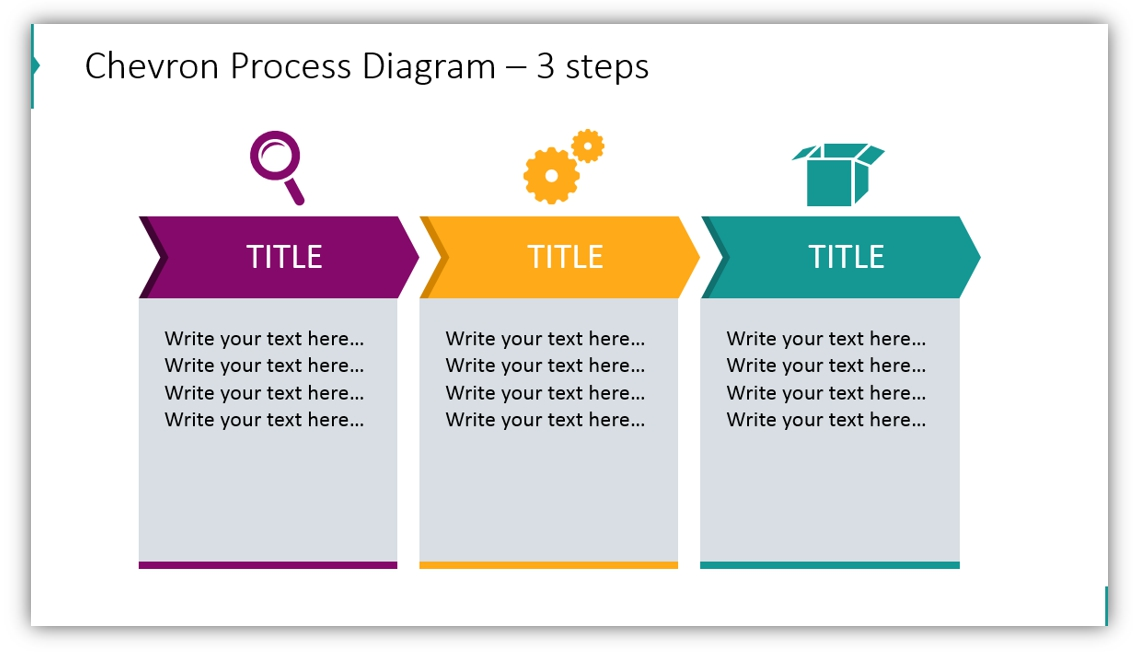chevron process diagram 3 steps