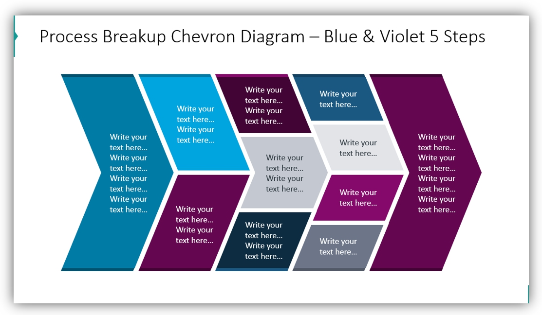 chevron process diagram input-output ppt