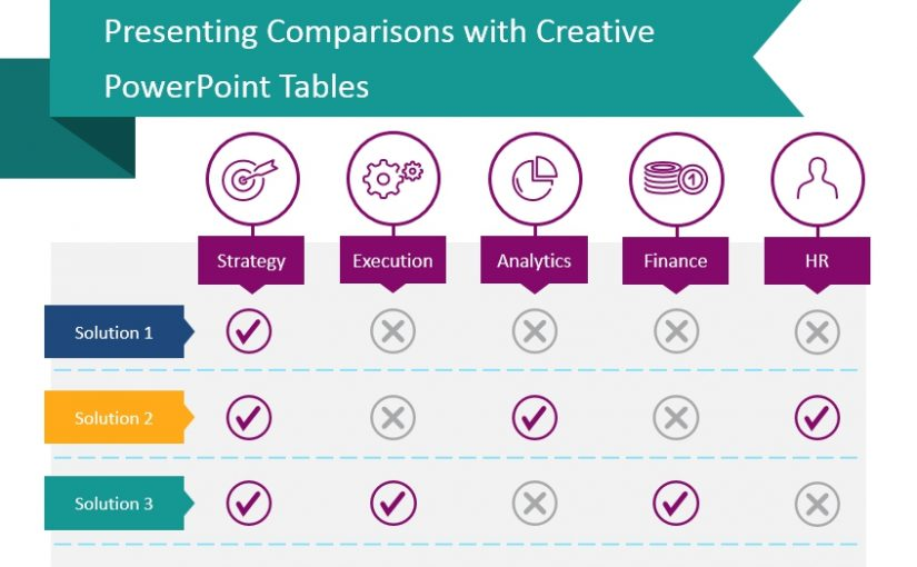 comparison table powerpoint