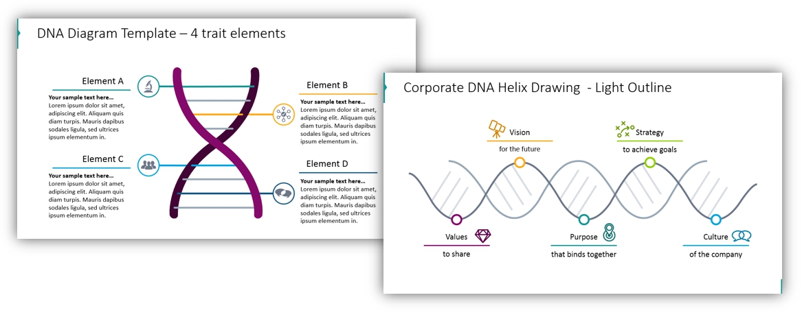 DNA diagram helix powerpoint