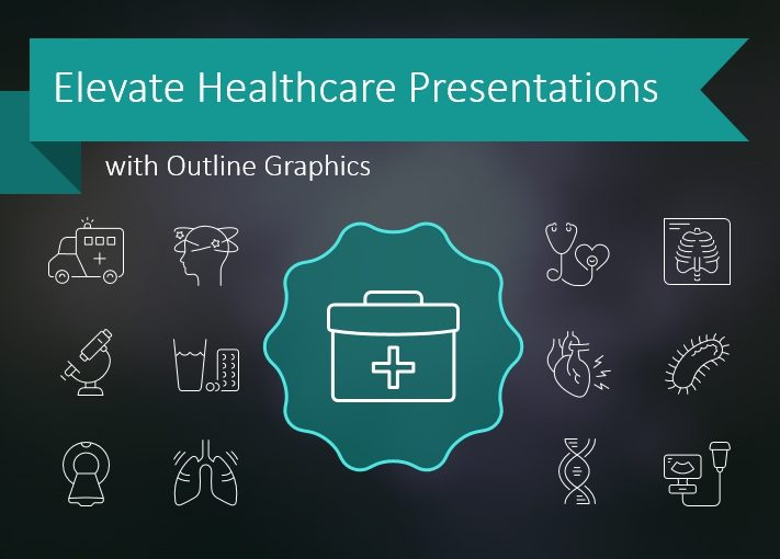 Elevate Healthcare Presentations with Outline Graphics