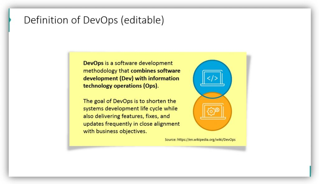 definition DevOps methodology ppt