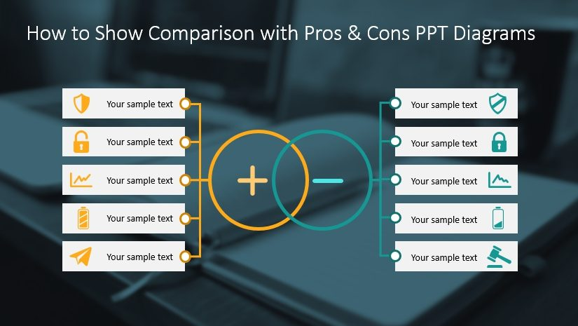 How to Show Comparison with Pros & Cons PPT Diagrams