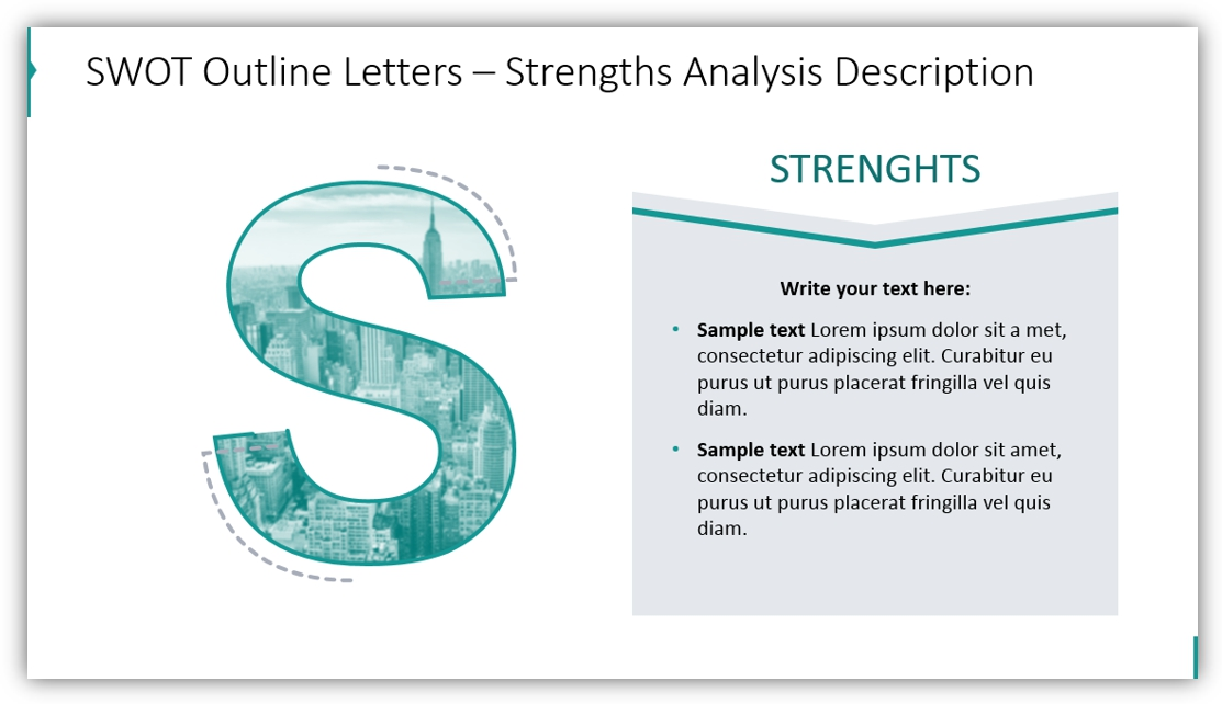 SWOT analysis presentation strengths analysis powerpoint
