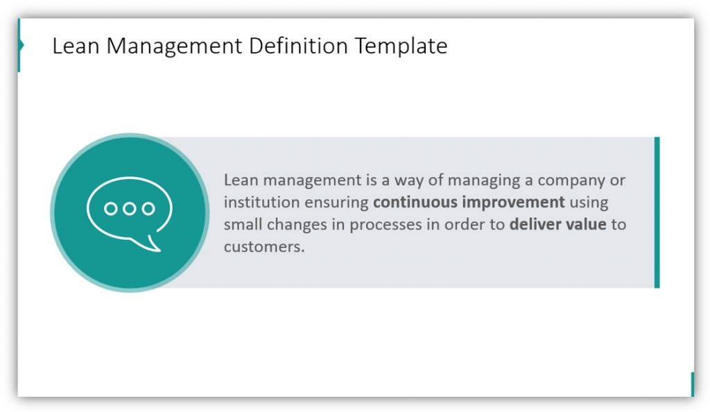 Lean Management definition ppt