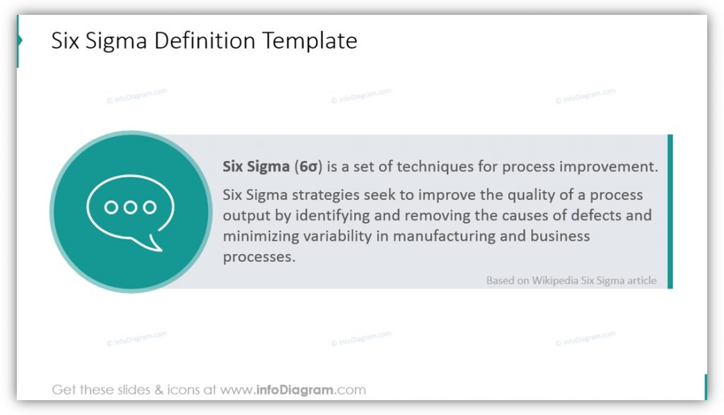 Six Sigma PowerPoint definition