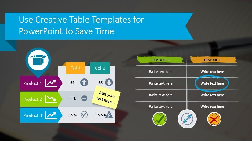 data table template powerpoint