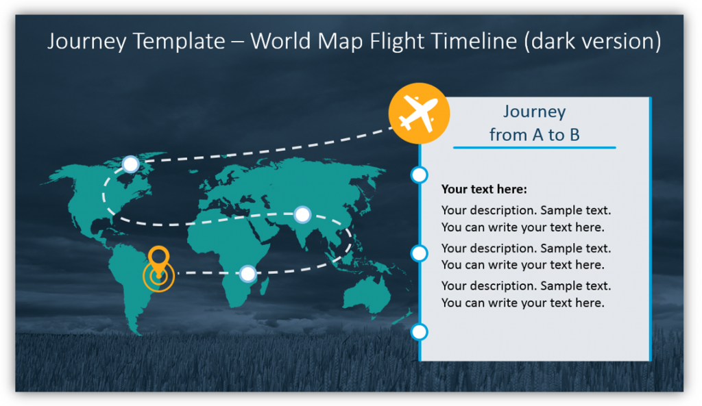 timeline graphics journey slide powerpoint