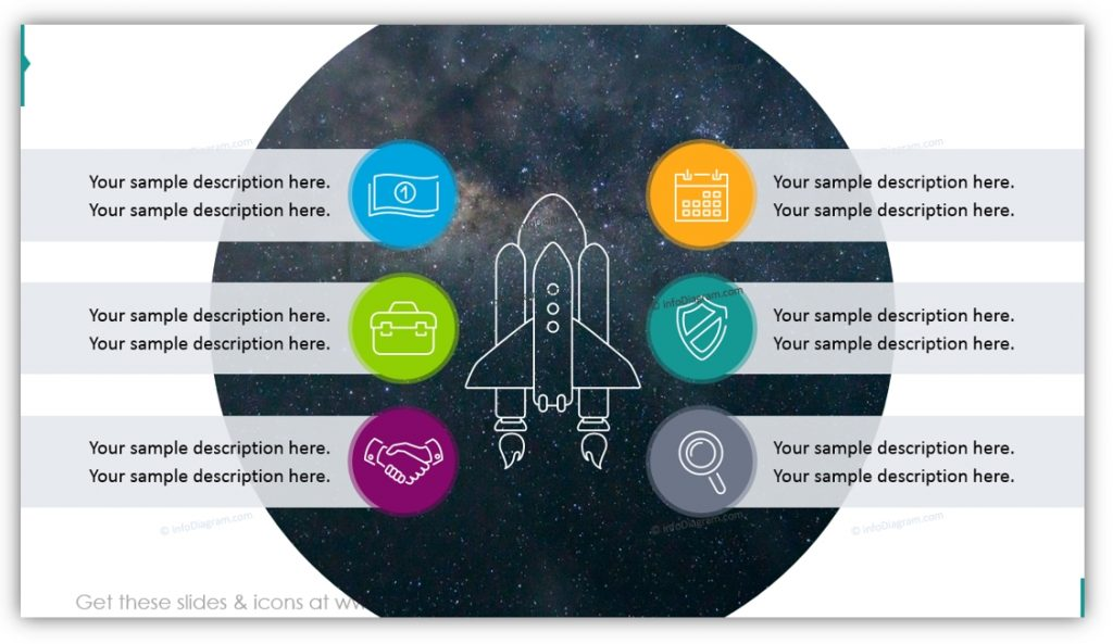 Ascent Growth Space Shuttle Illustration ppt