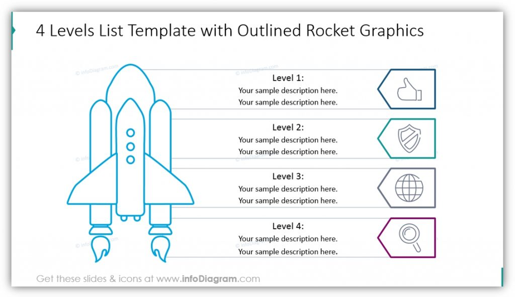 product launch rocket list graphics