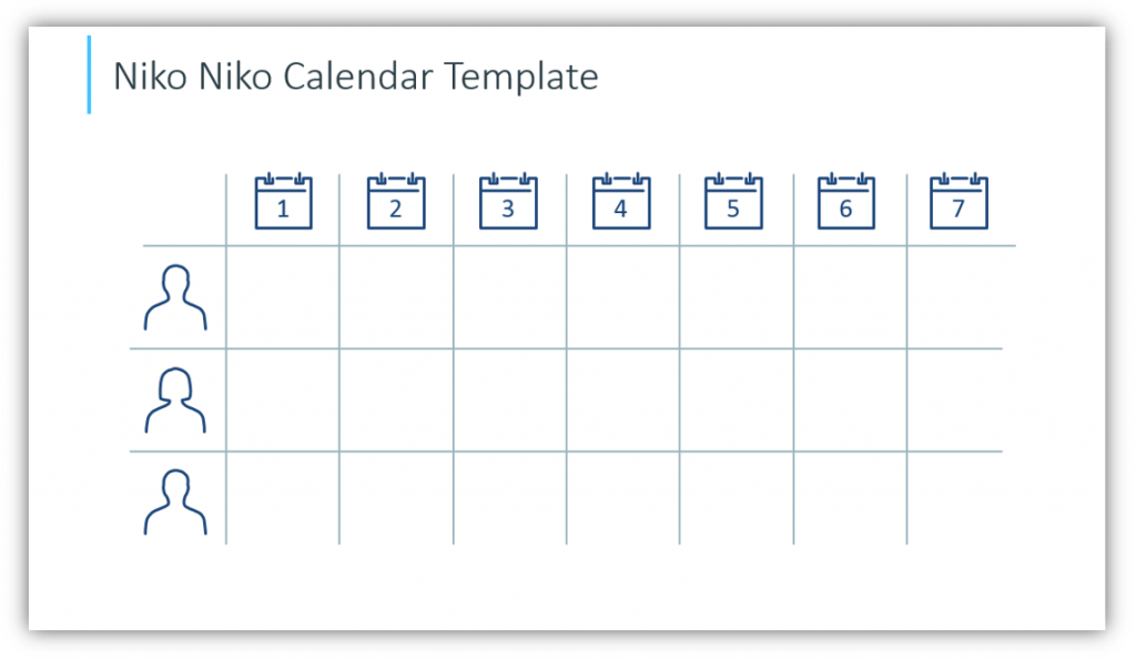 scrum process Niko Niko Calendar Template powerpoint