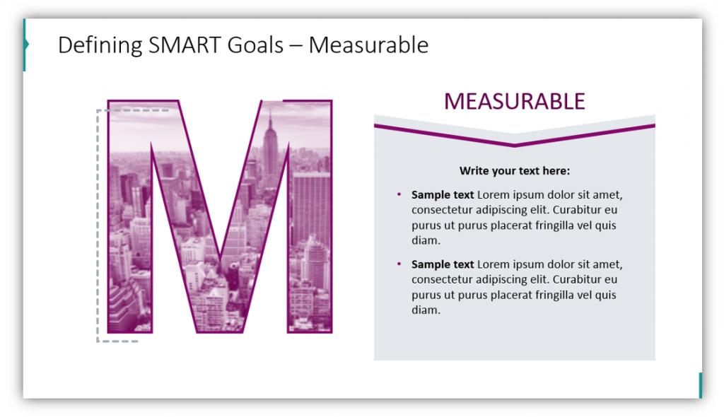 SMART goals measurable powerpoint graphics
