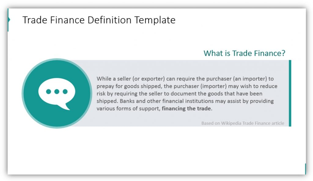trade finance definition template ppt