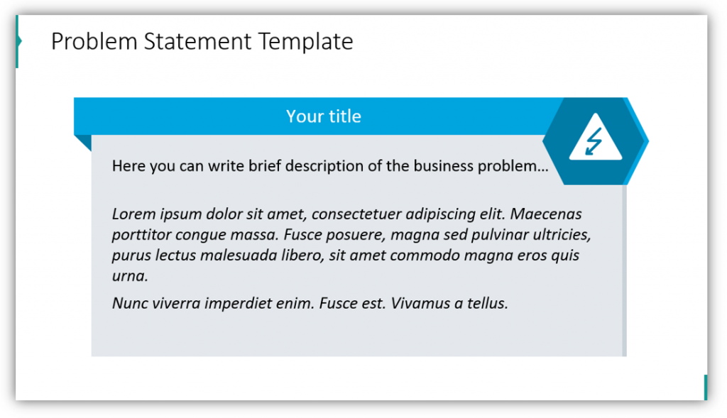 business case Problem Statement Template powerpoint