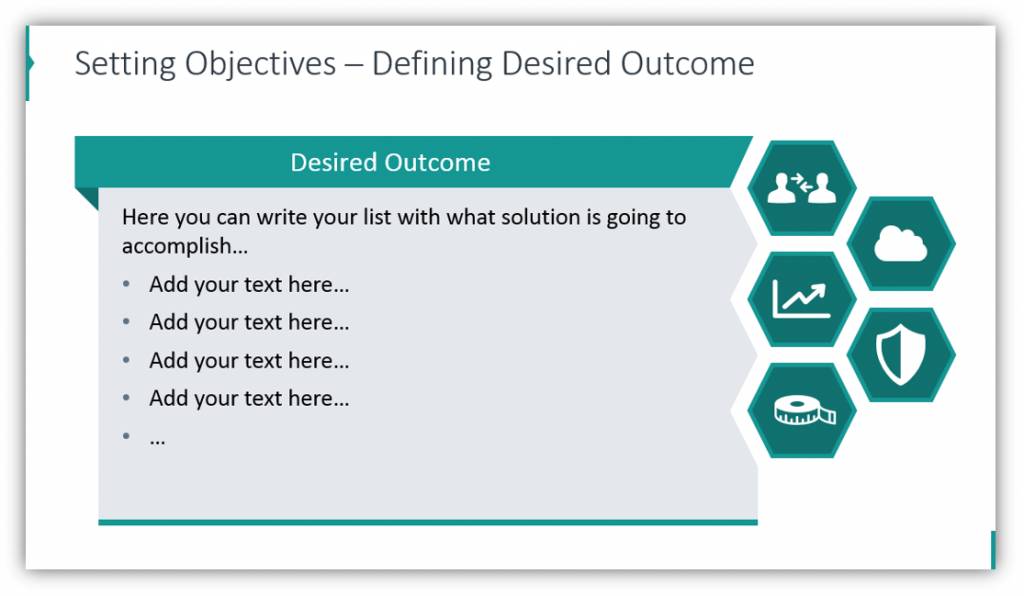 business case Setting Objectives – Defining Desired Outcome