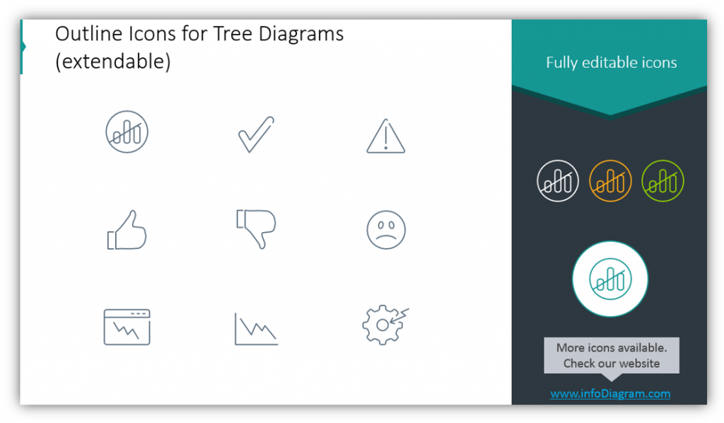 outline icons for root cause analysis ppt