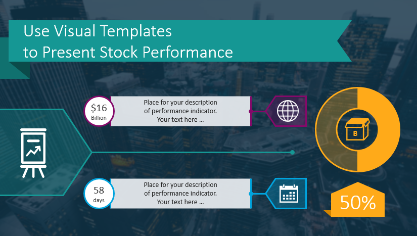 stock report financial company performance powerpoint