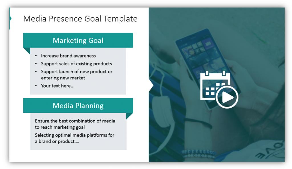 Media planning Presence Goal Template slide