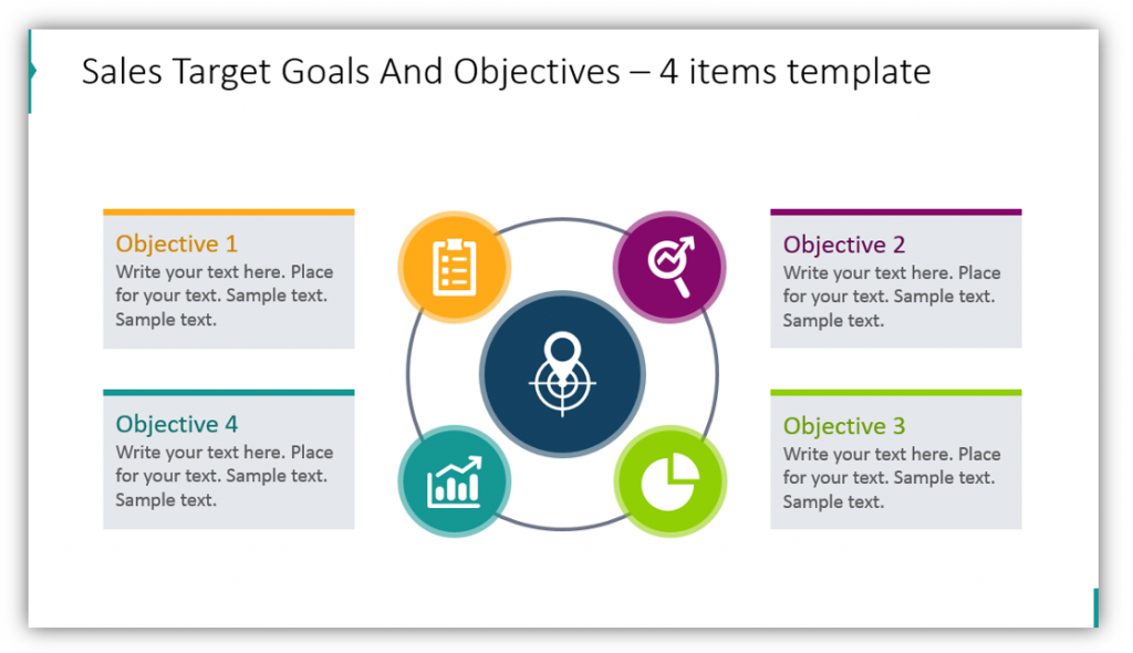 Sales Target Goals And Objectives media planning ppt template