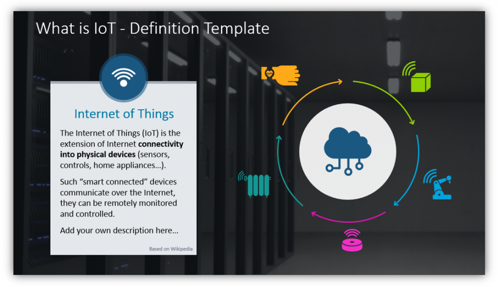 internet of things definition PPT template