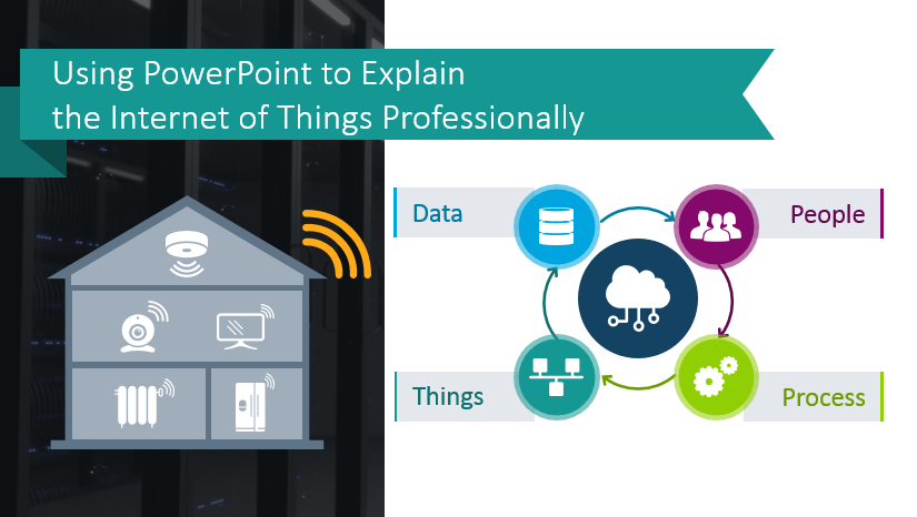 internet of things illustrated in powerpoint