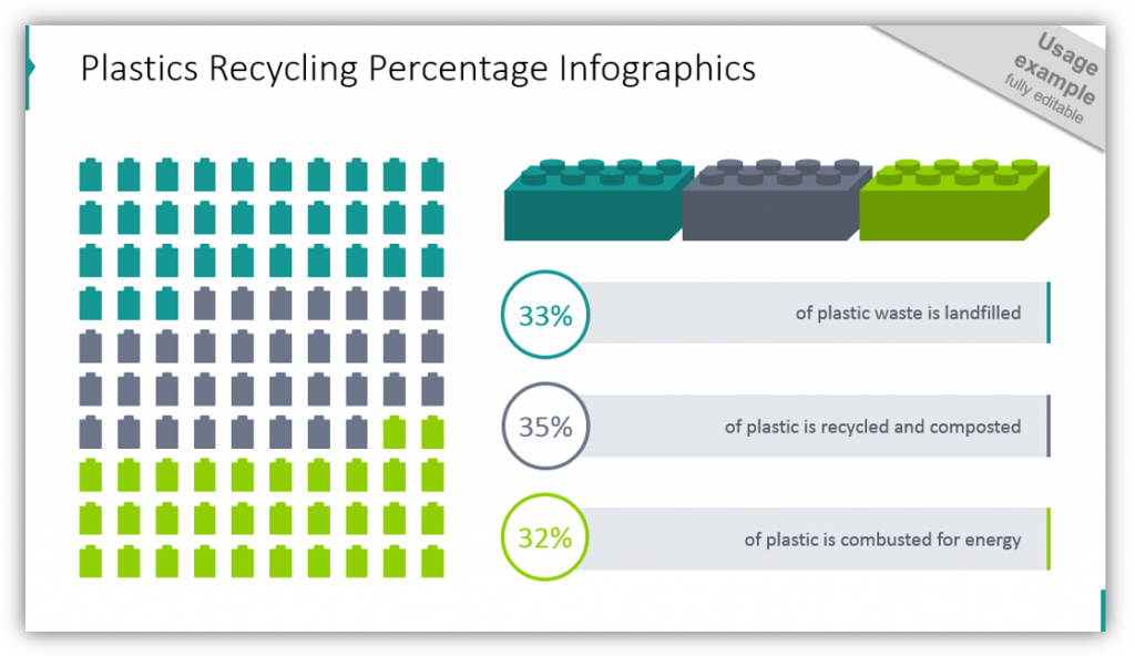 Building Blocks Percentage Matrix Infographics Template brick graphics