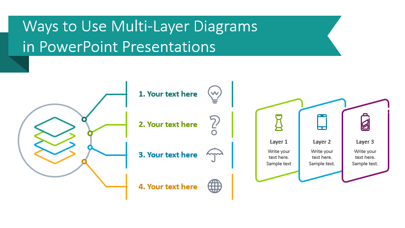 multi-layer diagrams slides for powerpoint