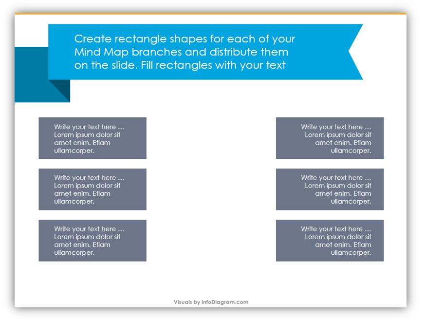 mind map diagram step-by-step design instruction