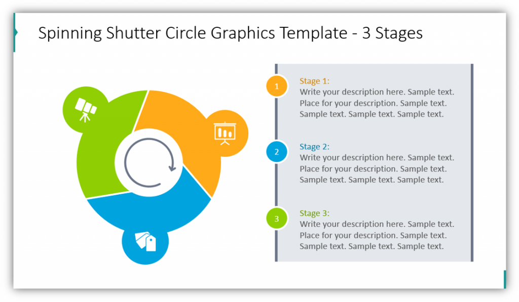 shutter and circle graphics Spinning Shutter Circle Graphics Template