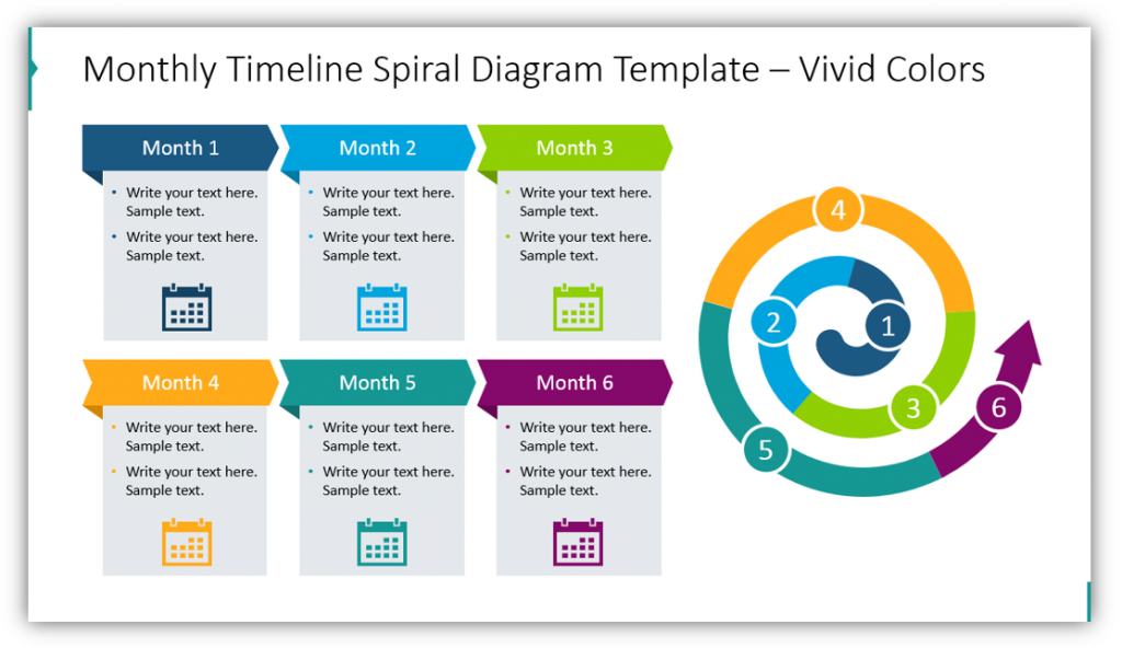 Monthly Timeline Spiral Diagram Template