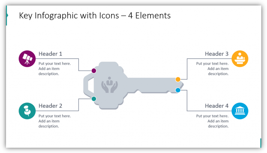 Key Infographic with Icons – 4 Elements