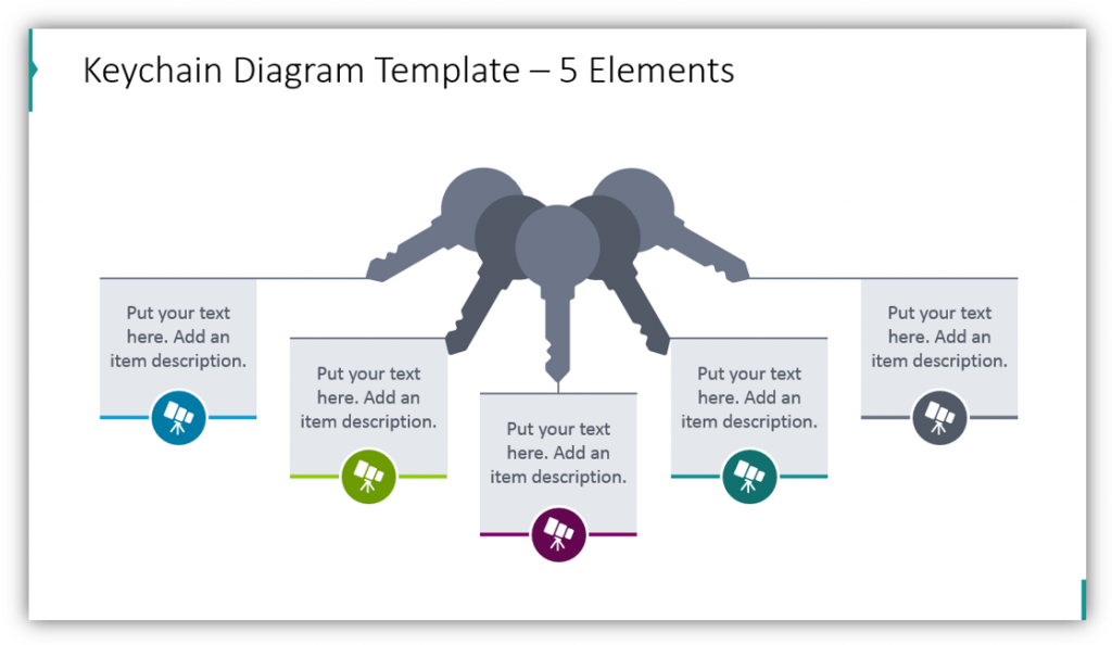 Keychain Diagram Template – 5 Elements