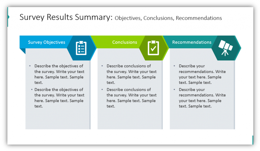 Survey Results Summary: Objectives, Conclusions, Recommendations