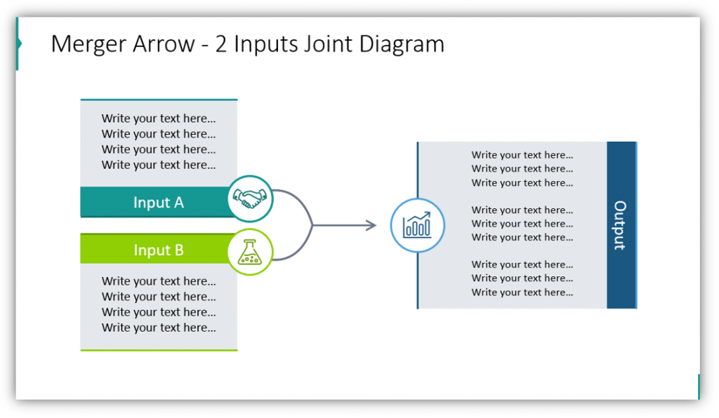 Merger Arrow - 2 Inputs Joint Diagram