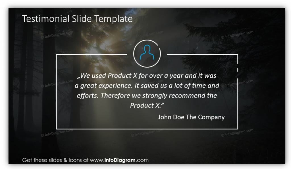 Testimonial Pitch Deck Slide Template