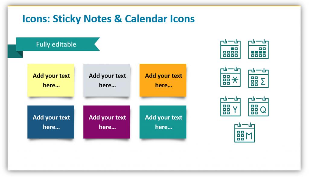 Sticky Notes & Calendar Icons