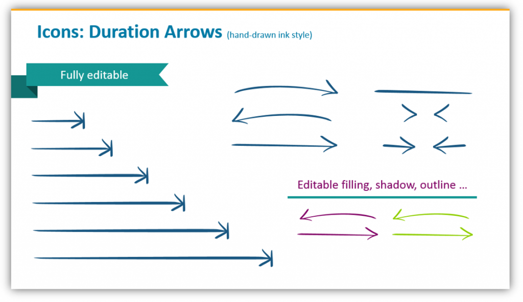 duration arrow graphics
