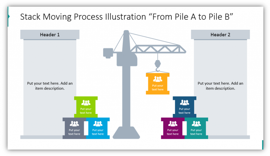 "Stack Moving Process Illustration ""From Pile A to Pile B"""